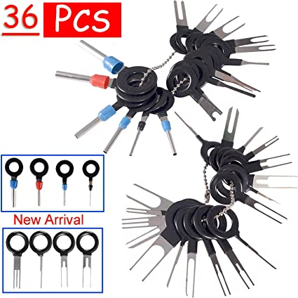 VADIV 41 Pcs Terminal Removal Tool Kit for Car Connector and Other Household Devices,Wire Pin Connector and Extractor Tools Set for Most Connector Terminal