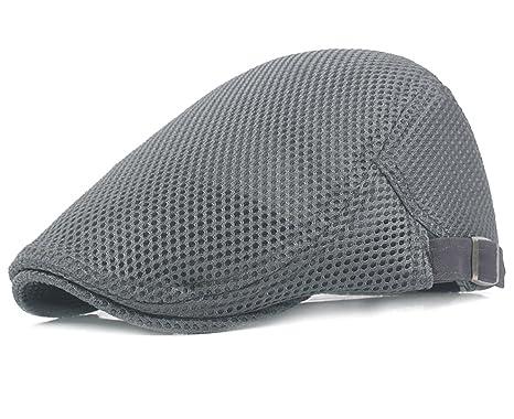 Men Breathable mesh Summer hat Newsboy Beret Ivy Cap Cabbie Flat Cap ... 2600752383