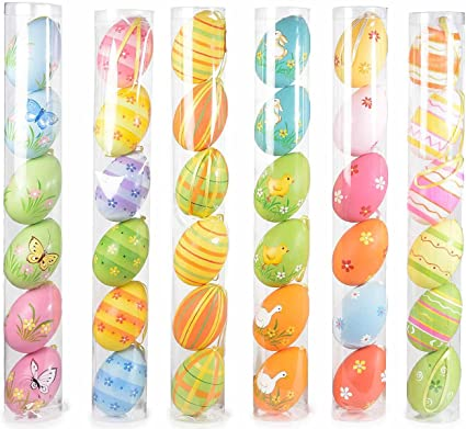 Ideapiu Idea Decorazioni Pasquali Uova Decorative 36 Uova Pasqua Decorata Da Appendere Uova Pasquali Decorazioni Pasquali Amazon It Casa E Cucina
