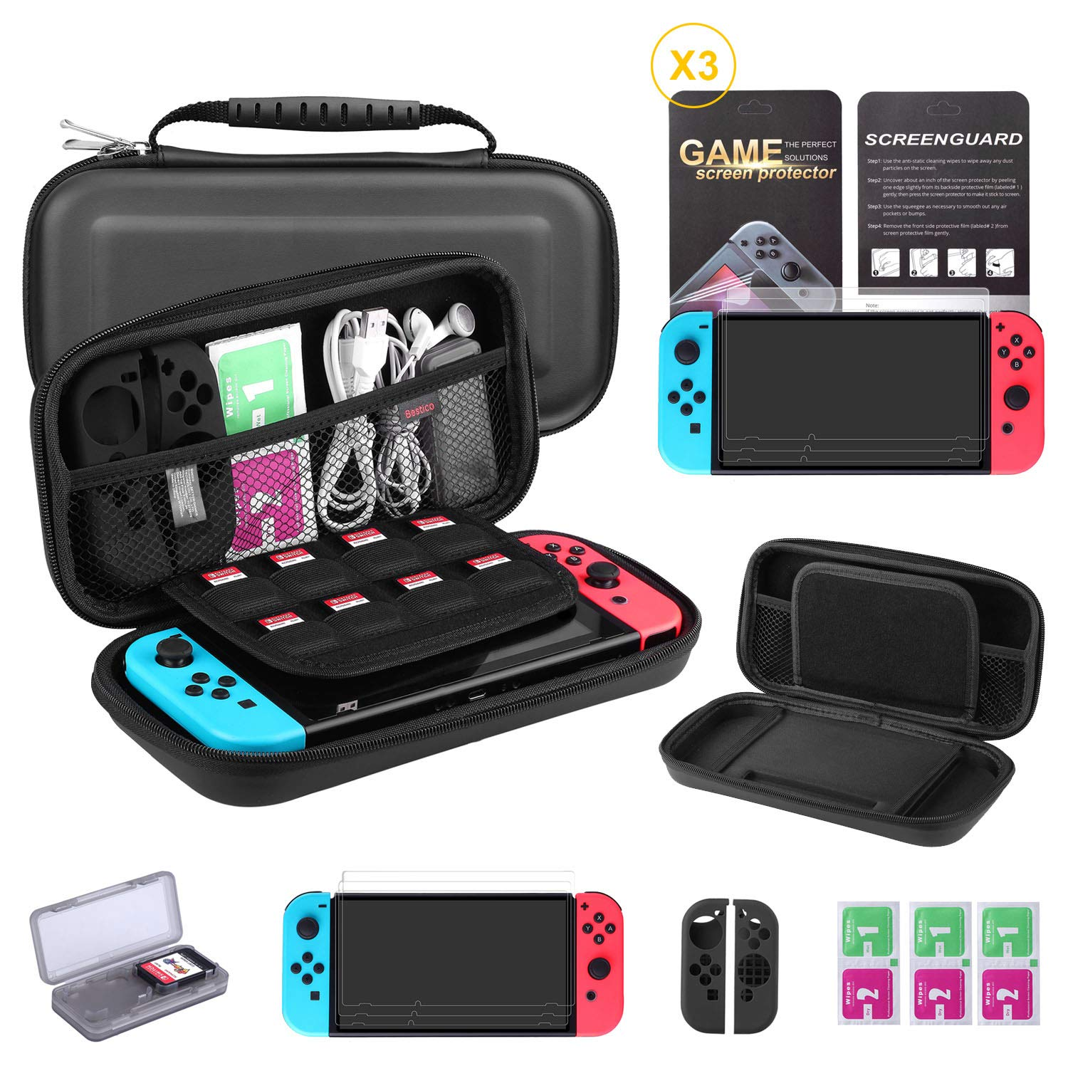Bestico Kit Protección para Nintendo Switch, Funda Switch ...