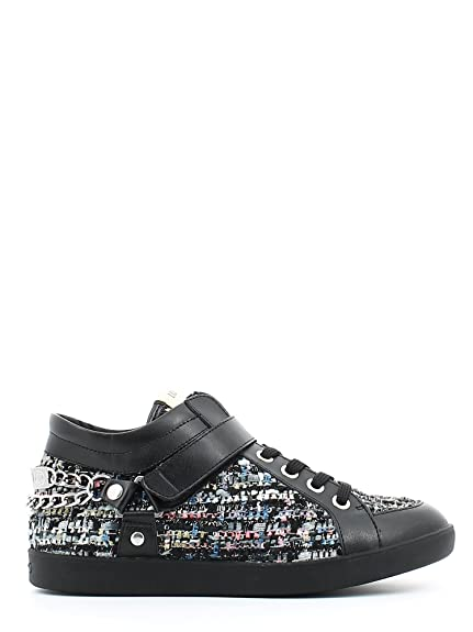 liu Jo woman sneakers low Mid Cyril S65121T8297 36 Nero/tweed multicolore