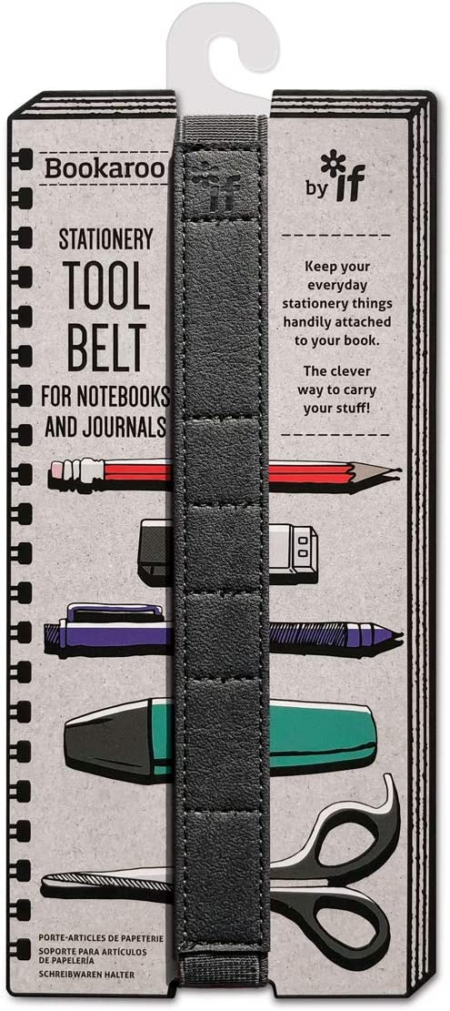IF Bookaroo Tool Belt Stationery Organiser Pen-Holder Stationery Holder Notebook Strap