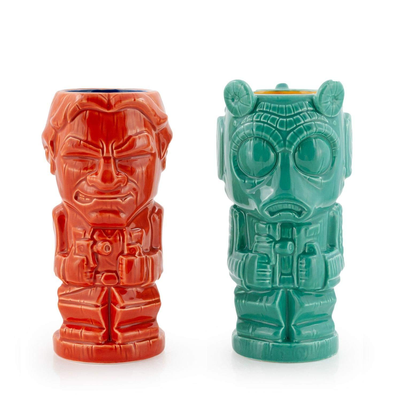Geeki Tikis Star Wars Han Solo & Greedo Mug Set | Official Star Wars Collectible Tiki Style Ceramic Cup | Holds 19 Oz. & 21 Oz.