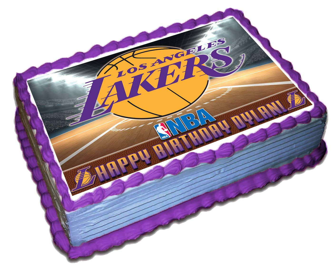 Prime Los Angeles Lakers Nba Personalized Cake Topper Icing Sugar Paper Funny Birthday Cards Online Sheoxdamsfinfo