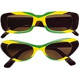 Widmann 6658J - Brille Jamaica, grün / gelb / schwarz
