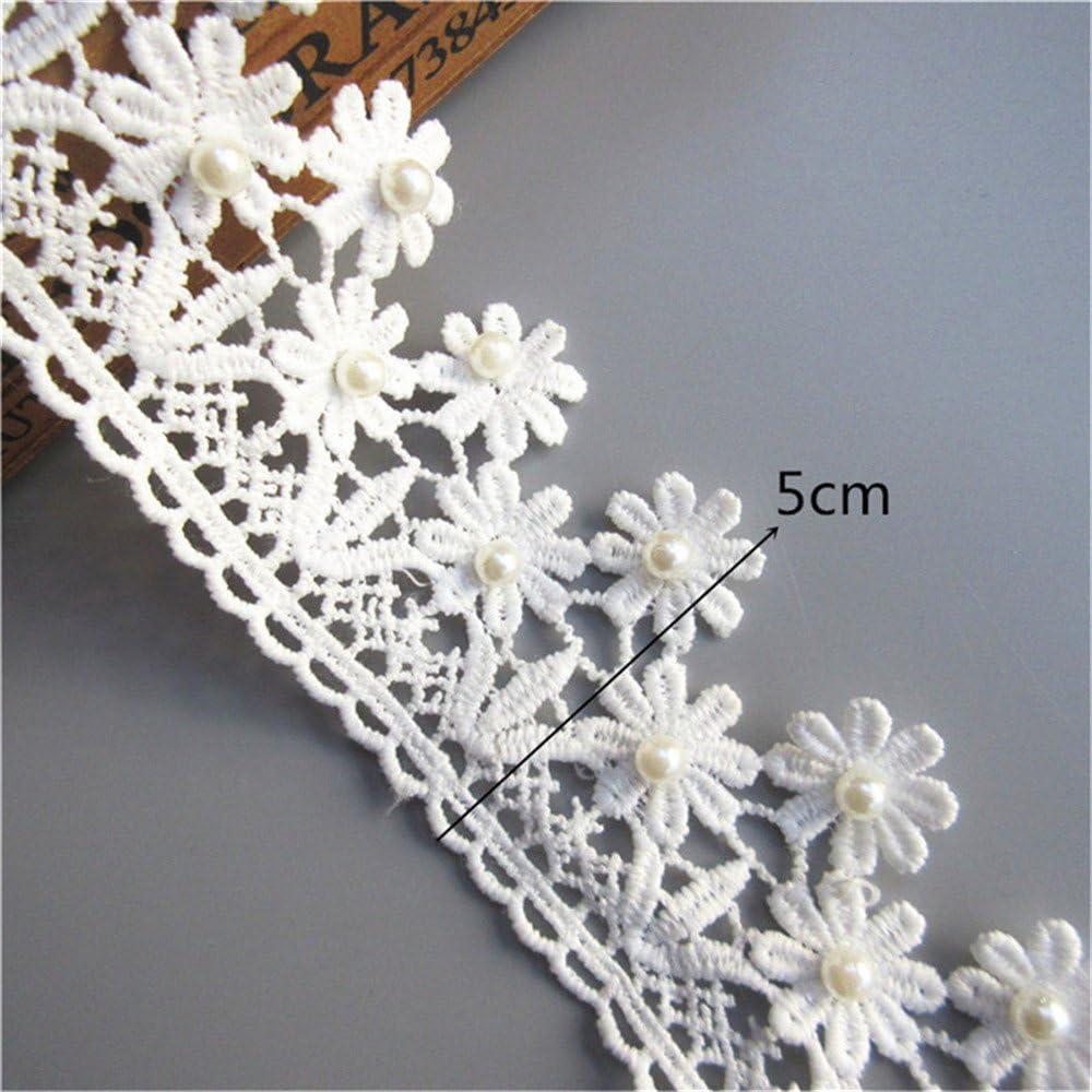 Floral Vintage Polyester Crochet Motif Lace Trim Wedding Applique Sewing Craft