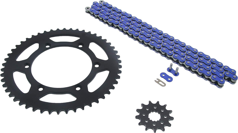 Yamaha 01-02 WR426F 00-02 YZ426F Blue Non O Ring Chain Sprocket Black 13//50 114