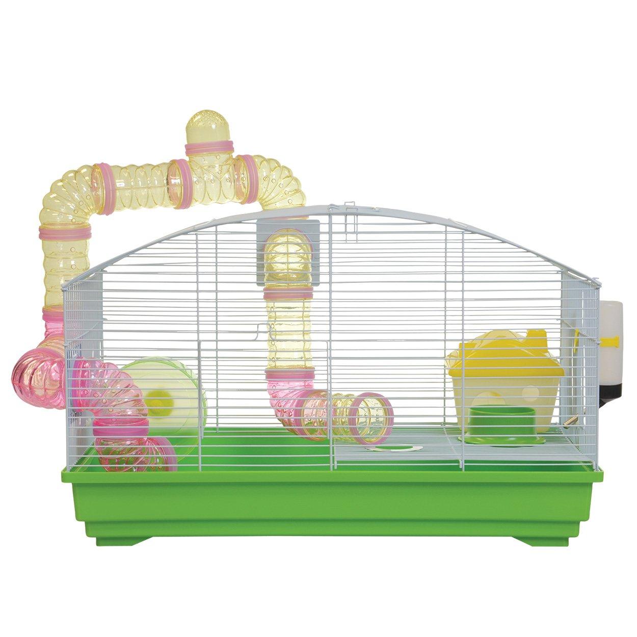 Animal Treasures YDE102 GREEN Green Deluxe Hamster Kit