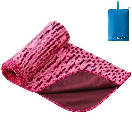 Wagsiyi Toalla de Fibra Toalla de Deportes Feelong fría Verano Color sólido Yoga al Aire Libre