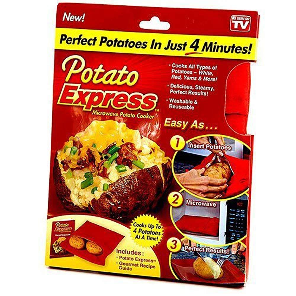 Potato Express Microwave Cooker Bag- Potato Express Pouch, Perfect Potatoes Just in 4 Minutes kbxstart