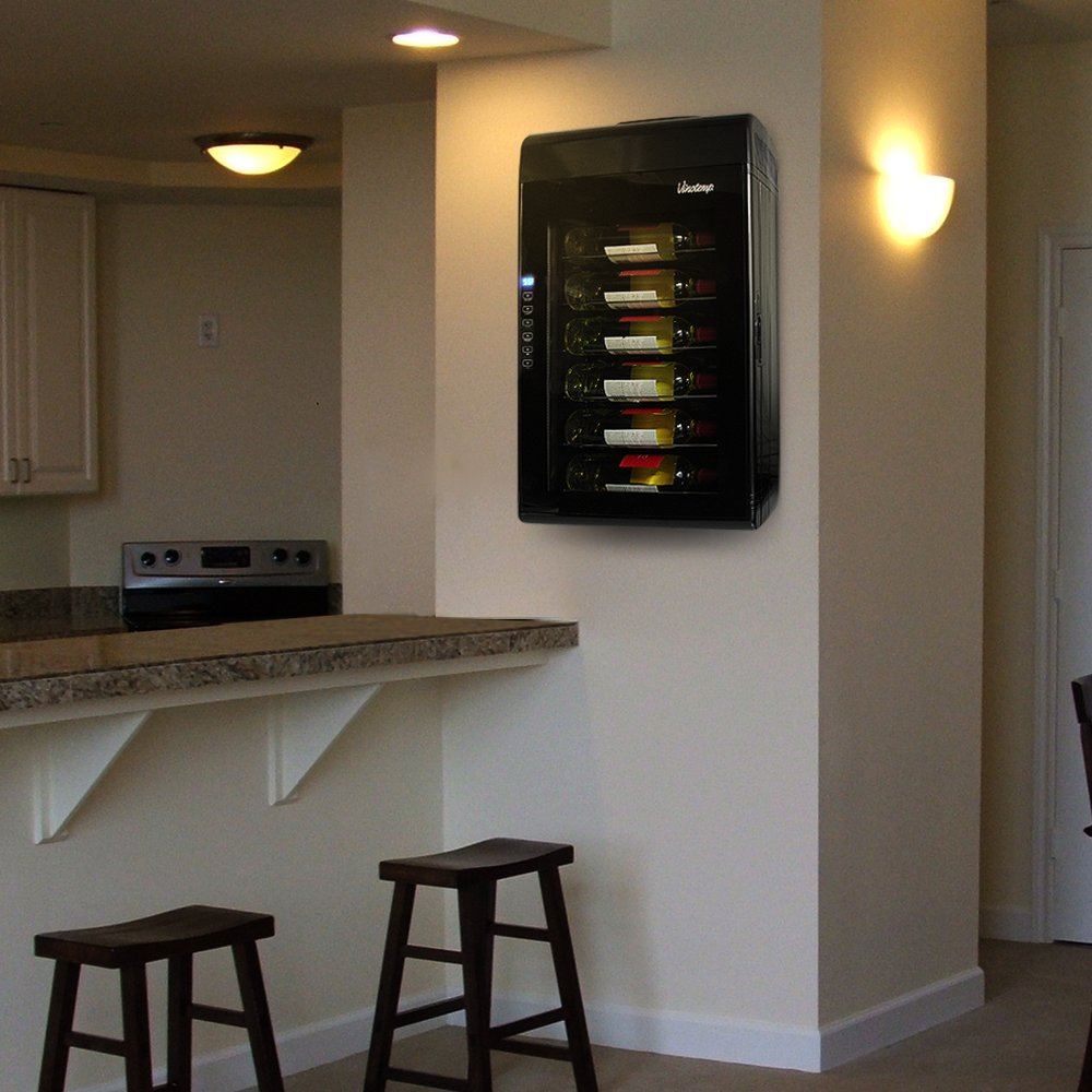 wine saver countertop narrow looks by vinotemp cooler saves space and cool
