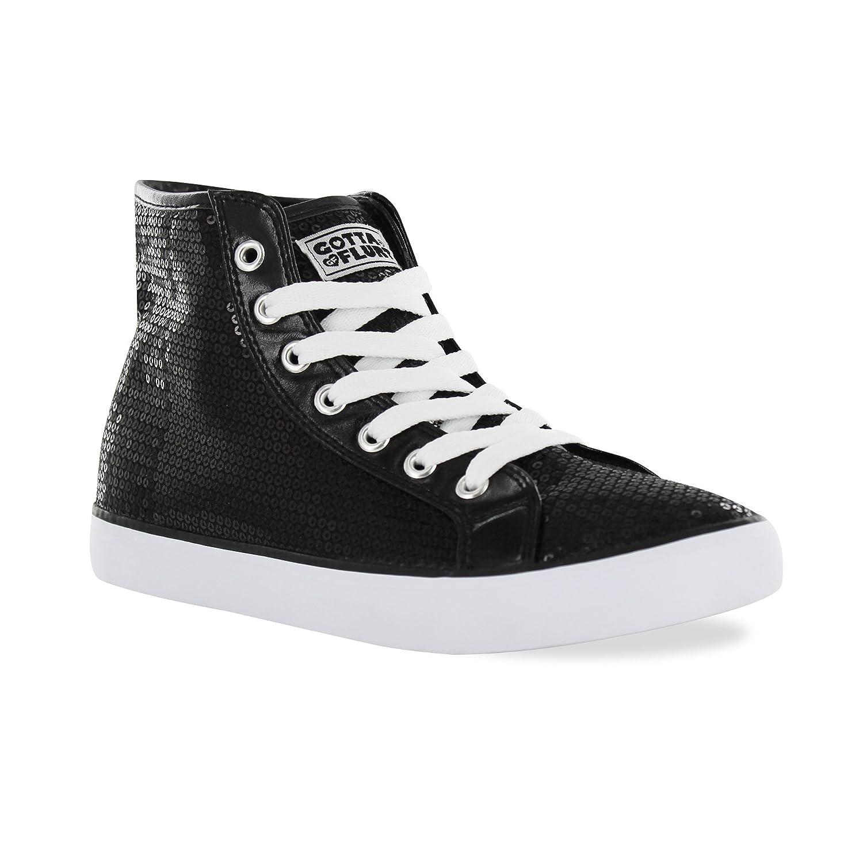Gotta Flurt Hi Disco II Lace Up Top Sneaker B00XYYI3IA 6|Black