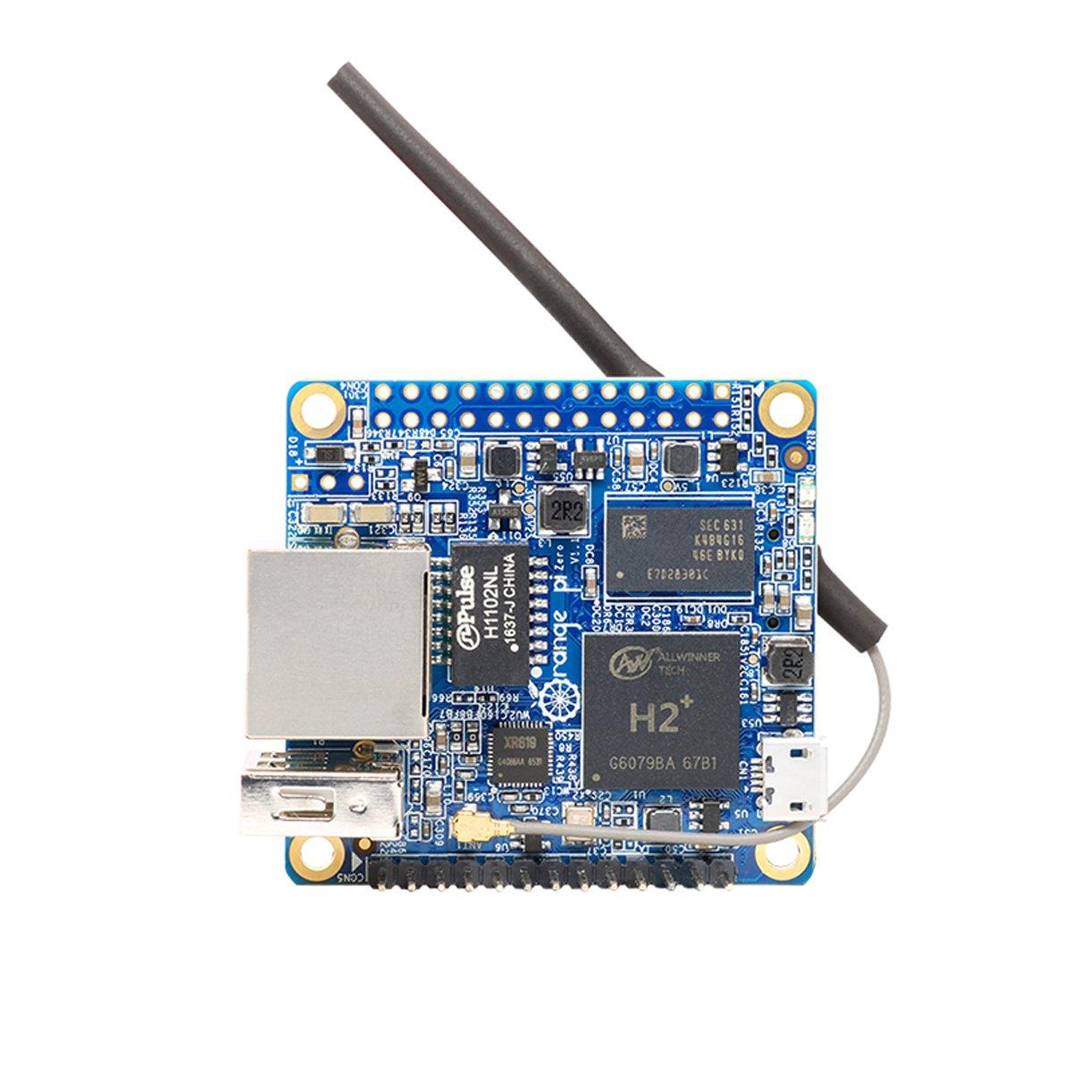 Makerfocus Orange Pi Zero H2 Quad Core Open-source 256MB Development Board with Wifi Antenna by MakerFocus (Image #1)