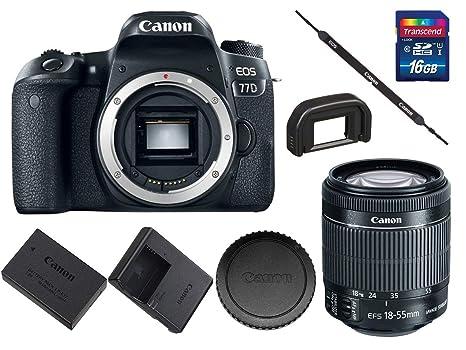 Amazon.com: Canon EOS 77D - Cámara réflex digital (modelo ...