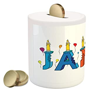 Amazon.com: Ambesonne James caja de moneda banco por ...