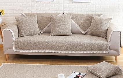 Cojines de sofá de Lino de Color Verde Oscuro, sofá de ...