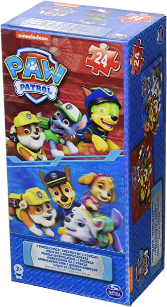 Paw Patrol Lenticular Cardboard 2 Puzzle Tower Box