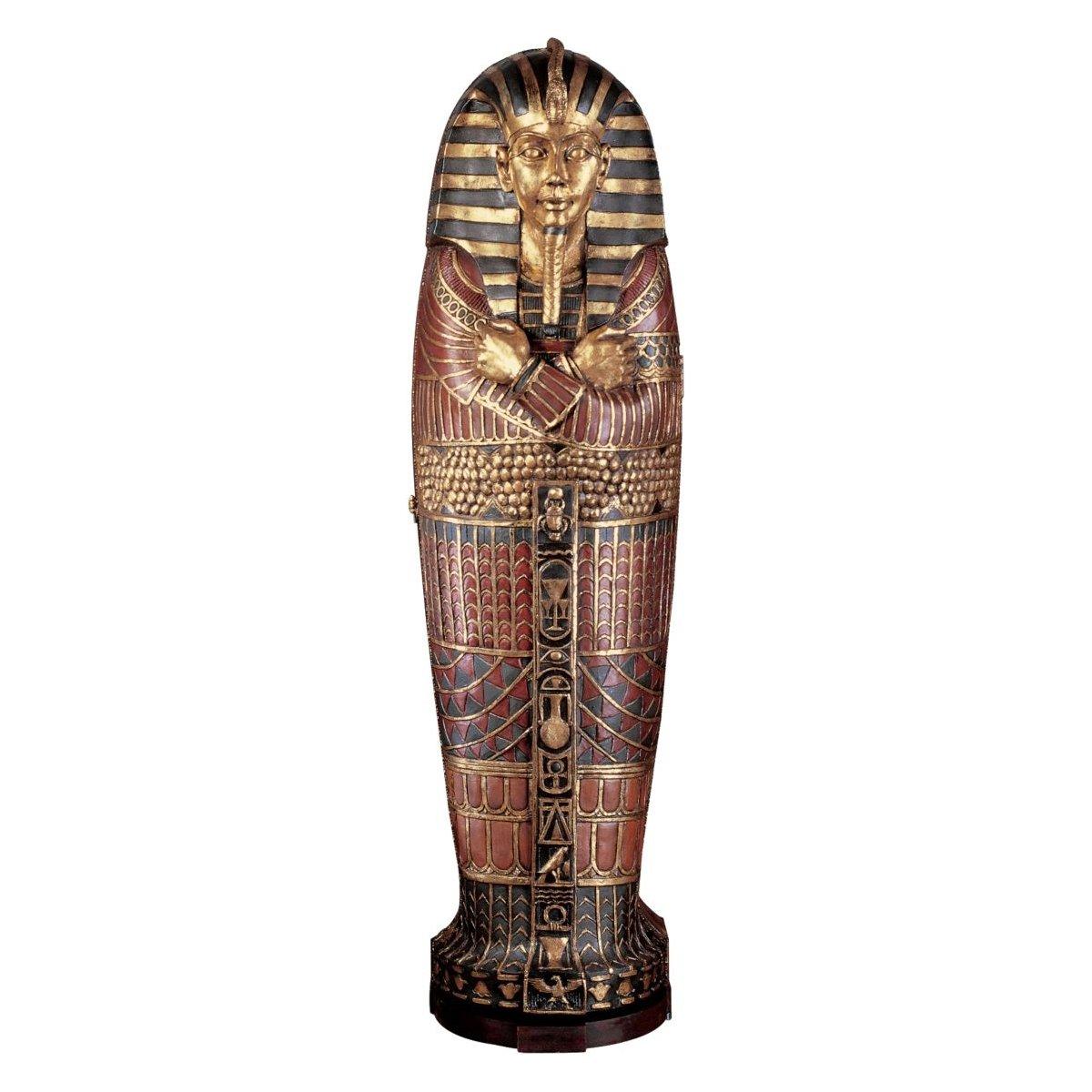 75'' Classic Egyptian Statue Sculpture King Tut Tutankhamen Life-size Sarcopha...