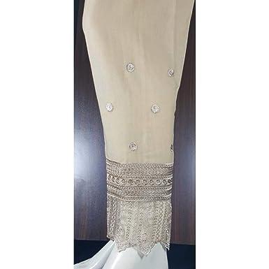 6c4f970ae8 Amazon.com: Pakistani Cigarette Pants Fancy Embroidered Wedding: Clothing