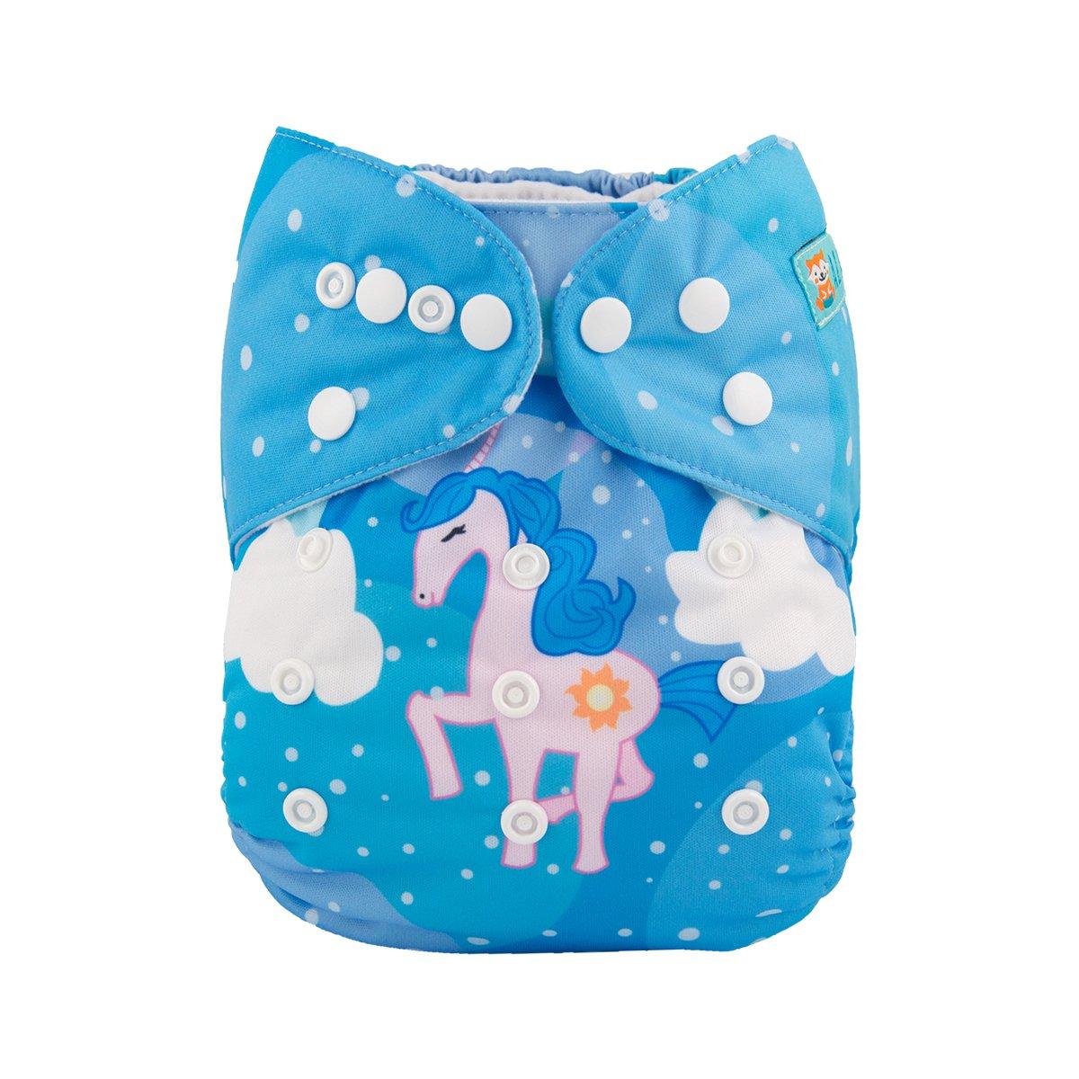 Amazon.com : ALVABABY Cloth Diaper One Size Adjustable Reuseable ...