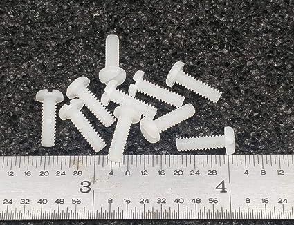 "6-32 X 3//16/"" SCREW PAN HEAD SLOT NYLON PLASTIC 100 pcs"