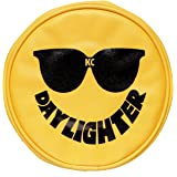 "KC HiLiTES 5205 6"" Round Yellow Vinyl Light Cover w/ KC Sunglasses Logo - Set of 2"