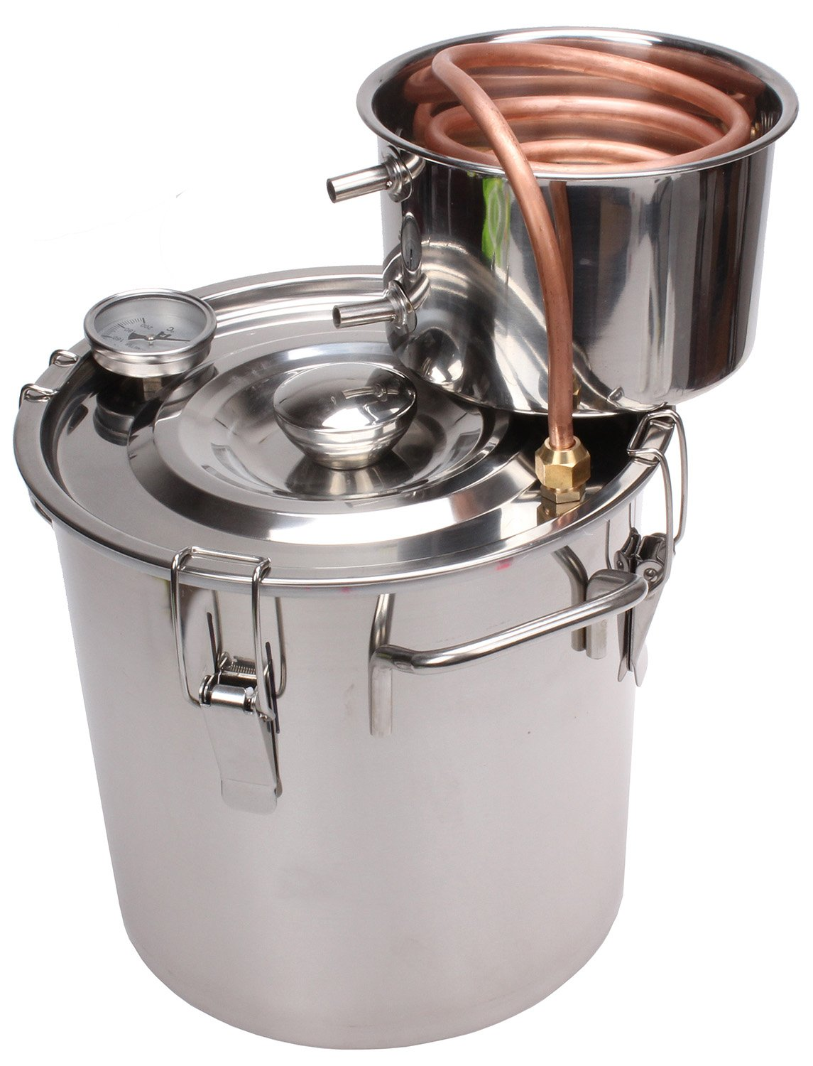 KMM 3 Gal Home Stainless Steel Alcohol Whiskey Essential Oil Water Distiller Moonshine Still Kit S0010