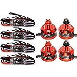 LHI 4Pcs DX2205 2300KV Brushless Motor 2CW 2CCW+4Pcs FVT LittleBee 20A ESC for QAV250 QAV300 FPV Racing Quadcopter