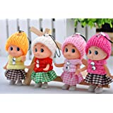Webby Cute Doll Keychains (Multicolour) -Set of 4