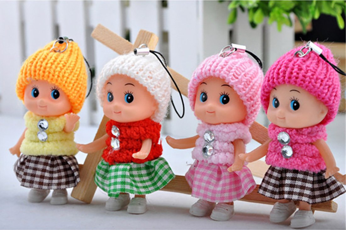 Buy Webby Cute Doll Keychains (Multicolour) -Set of 4 Online at Low Prices in India - Amazon.in