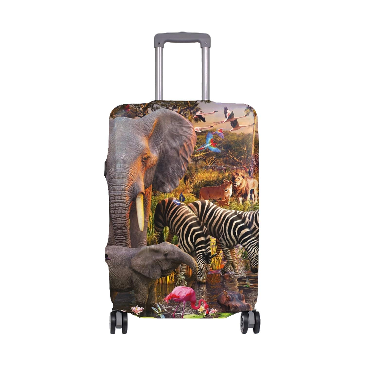 Safari Animals Creative Color Printed Luggage Cover Spandex Travel Suitcase Protective Cover