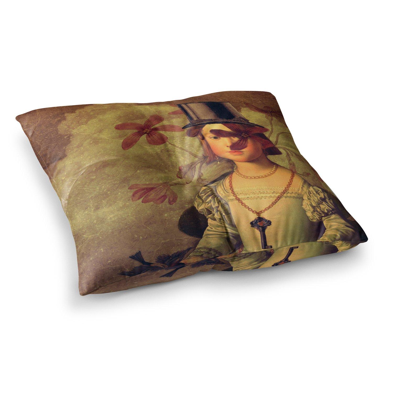 26 x 26 Square Floor Pillow Kess InHouse Suzanne Carter The Key Portrait