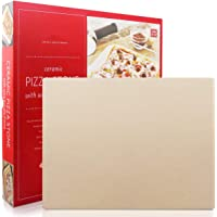 Pizza Stone, Engineered Tuff Cordierite Durable, Heavy Duty Ceramic, Baking Stone, Pizza Pan, Perfect for Oven, BBQ and Grill, Thermal Shock Resistant, Durable and Safe, 15x12 Inch Rectangular