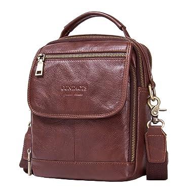 Contacts Mens Real Leather Mini iPad Tab Crossbody Shoulder Messenger Bag (Dark  Brown) 2bfc1ad8d6