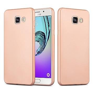 Funda Galaxy A5 (2016) Case, JAMMYLIZARD Carcasa TPU Fina Goma De Silicona [Metallic Jelly ] Efecto Metálico Mate Back Cover Para Samsung Galaxy A5 ...