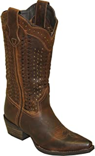 product image for Abilene Women's Rawhide by Scalloped and Weaving Western Boot Snip Toe