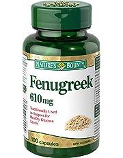 Nature's Bounty Fenugreek Supplement, 610mg, 100 Capsules