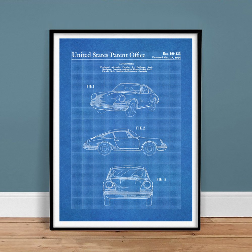 Amazon steves poster store porsche 911 carrera 1964 patent art amazon steves poster store porsche 911 carrera 1964 patent art blueprint 18x24 print poster gift 356 996 997 turbo original unframed posters prints malvernweather Image collections