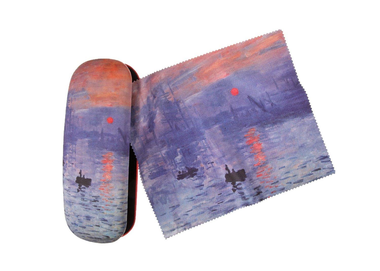 Set Brillenetui und Brillenputztuch Claude Monet - Der Sonnenuntergang von Artis Vivendi