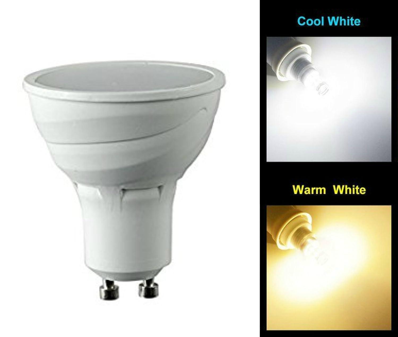 Bombilla LED de 5 vatios MSC, 450 lm GU10 – Sensor automático de amanecer y atardecer con apagado y encendido automático – Luz Blanca Cálida, Bombilla 3000 K de ahorro de energía (no 2 W 3 W 4 W 6 W 7 W 8 W 9 W 10 W