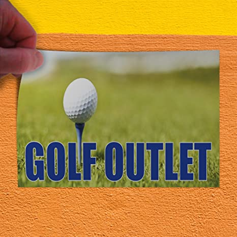 Amazon.com: Golf Outlet #1 Indoor Store Sign Vinyl Decal Sticker - 19.5inx48in,: Office Products