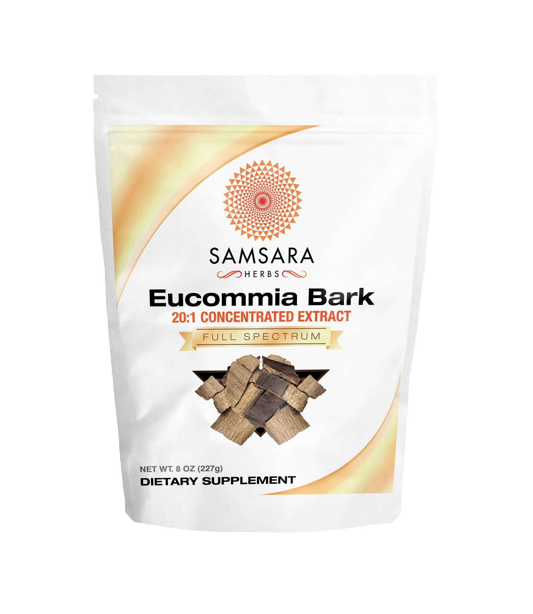 Samsara Herbs Eucommia Extract Powder - 20:1 Concentrated Extract (8oz/227g)