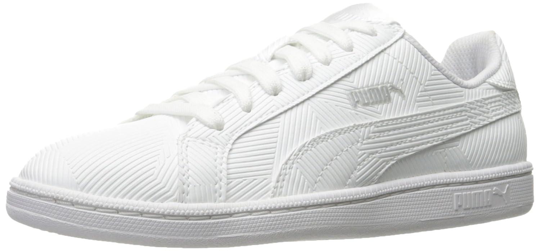 Puma Mens Smash Deboss Fashion Sneaker  7 D(M) US|Puma White-puma White