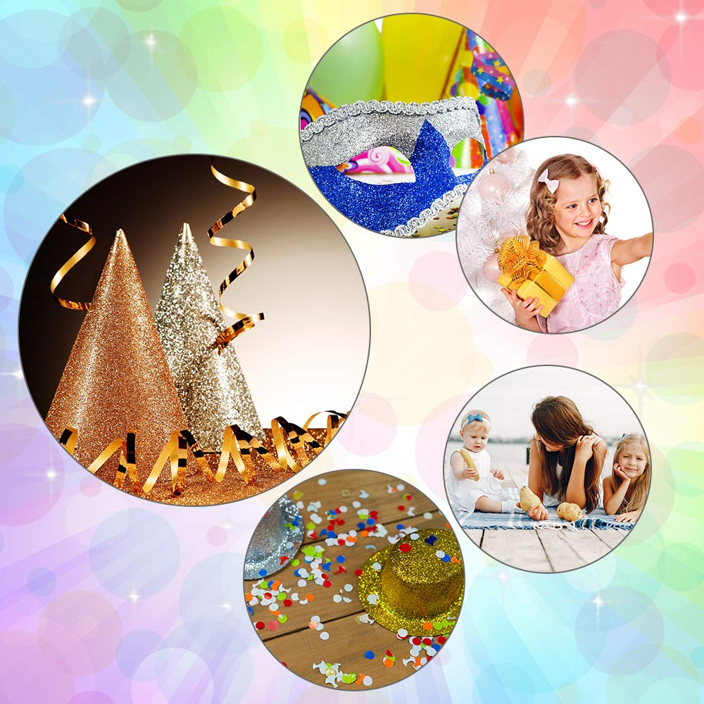 Caydo 9 Colors Accessories Super Shiny Chunky Glitter Stereoscopic Sequins Faux Leather Sheets Canvas Back for Craft DIY, Hair Clips Making, Earrings Making 12.6 x 8.6 Inch (32 x 22 cm) by Caydo (Image #7)