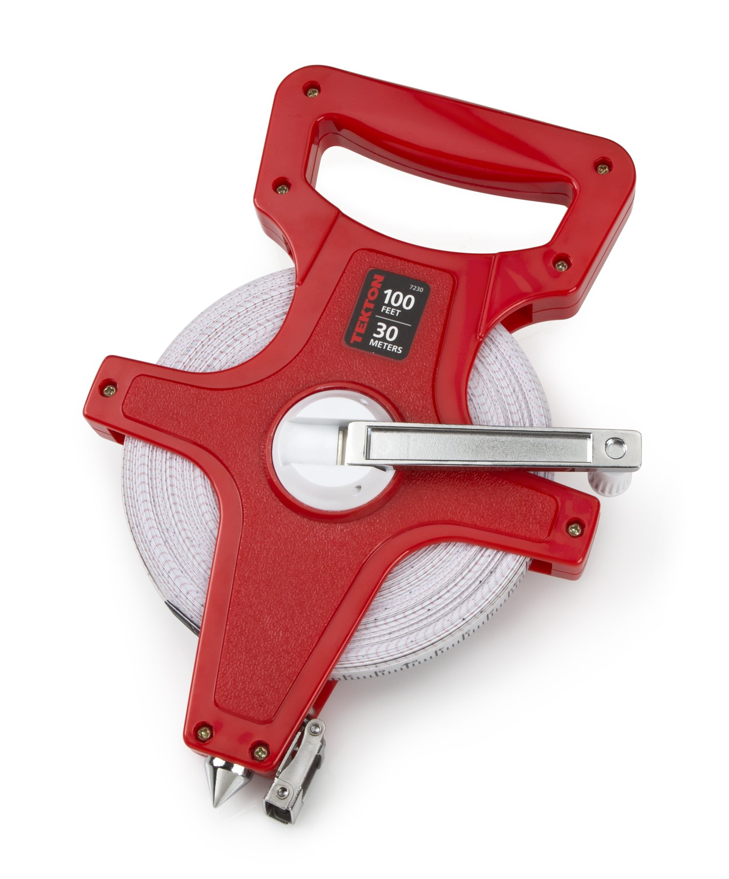 TEKTON 7230 100-Foot Fiberglass Tape Measure