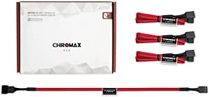 Noctua NA-SEC1 chromax.red, 3-Pin/4-Pin Extension Cables (30cm, Red)