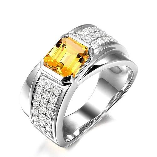 Blisfille Joyas Anillo Oro Corazon Anillo de Square Shape Anillos de Diamantes Autenticos Anillo de Plata de Ley 925,Plata del Tamaño 6,75-25: Amazon.es: ...