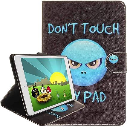 iPad Air Funda [con auriculares gratis], Billion Paint Todo tipo de Dibujos Animados Patrones de Cuero de la PU Flip Carcasa Shell Cartera Delgado ...