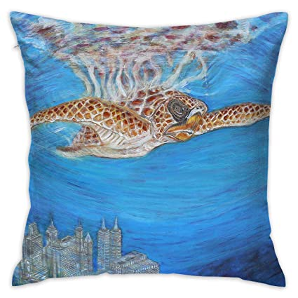 Amazon Com Markui Throw Pillow Cover Sea Turtle Paint Bed Sofa