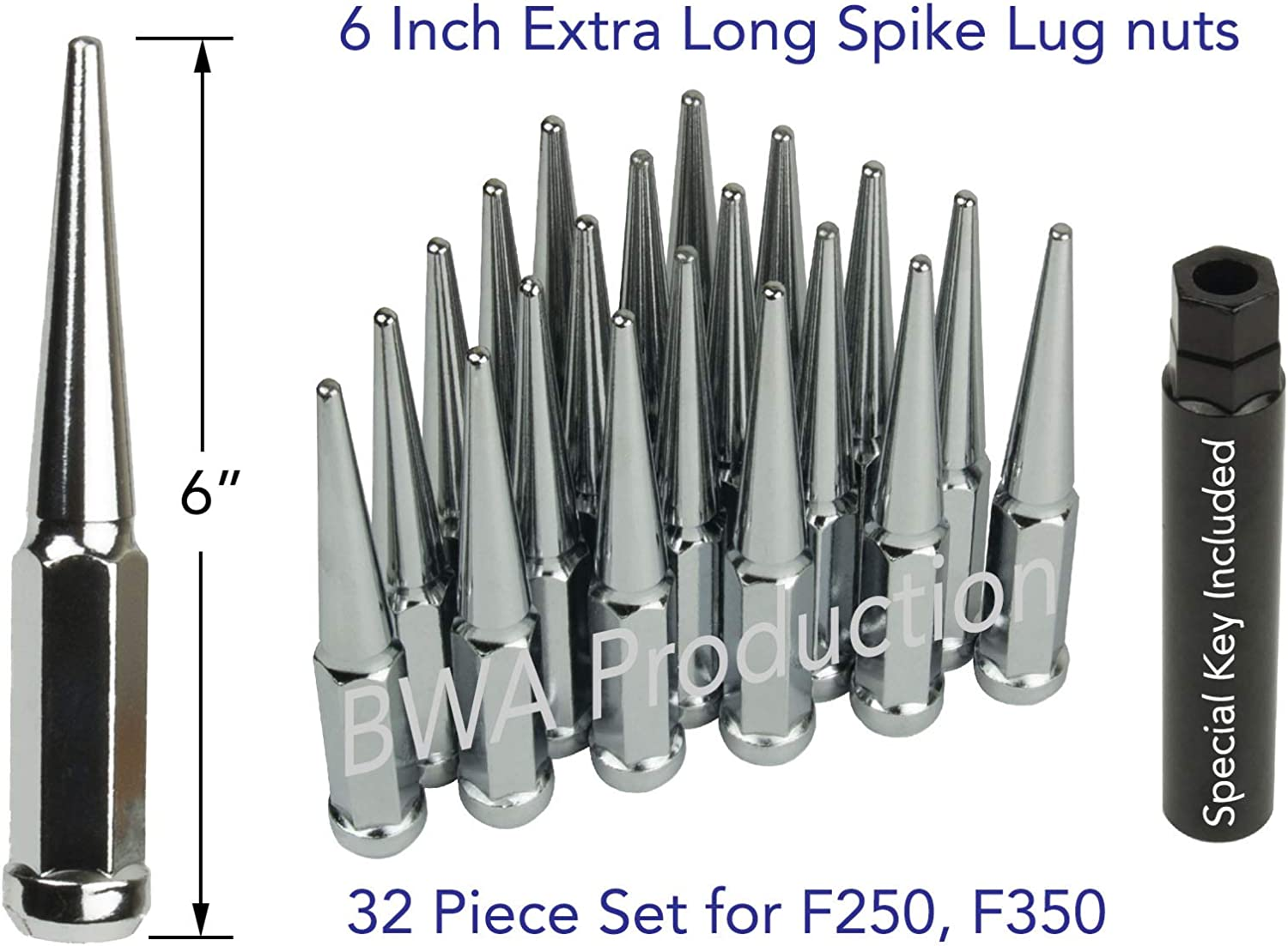 Buyer Needs to Review The spec Total Length 20pcs Chrome 14mm X 1.50 Wheel Lug Nuts fit 2001 Chevrolet Tahoe May Fit OEM Rims 1.77